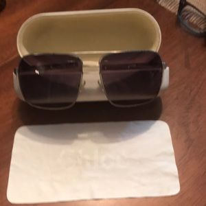 Chloe Sunglasses, cream/bone color frames & case!!